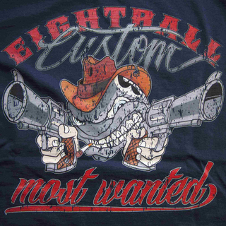 EIGHTBALL CUSTOM® Most Wanted Shirt Darkblue Darkblue Größe L
