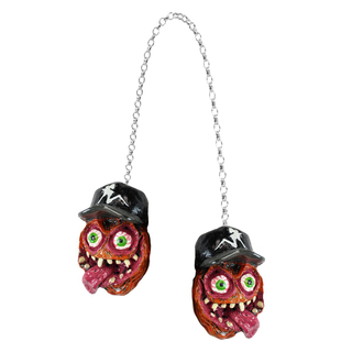 LETHAL THREAT Creepy Danglers Monster Skull f. Harley-Davidson & Hot Rod Fahrer