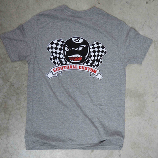 Eightball-Custom® T-Shirt Classic in grau XL für Harley & Custom Fans